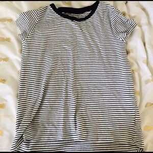 Other - White and black striped shirt